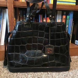 Dooney & Bourke Croc Embossed Leather Bag